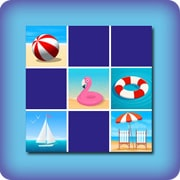 Memory game for kids - beach