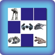 Memory game for kids - Vehicles Star Wars - online and free