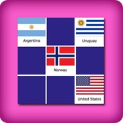 Big memory game for easy learning of countries flags