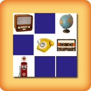 Memory game for seniors - vintage objects - online and free