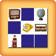 Matching game for seniors - vintage objects - online and free