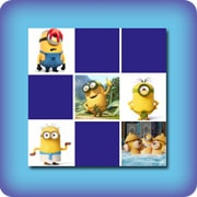 Matching game for kids - Funny Minions - online and free