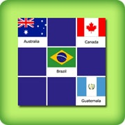 Matching game for adults - countries flags I - online and free