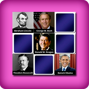 Big memory game  - Name of the presidents of the USA