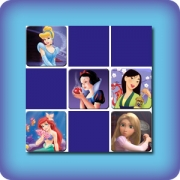 Memory game for kids - Disney Princesses - online and free