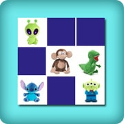 Memory game for toddlers - funny stuffed animals