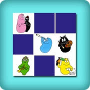 Memory game for toddlers - Barbapapa family - online and free
