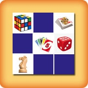 Matching game for seniors - board games objects - online and free