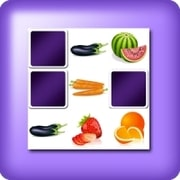Memory game 2 player - fruits and vegetables