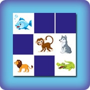 Matching game for kids - animals - online and free