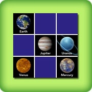 Memory game for adults - planets - online and free