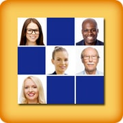 Memory game for seniors - Face memory - online and free