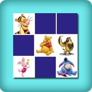 Memory game for toddlers - Winnie the Pooh - online and free