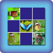 Memory game for kids - butterflies - online and free