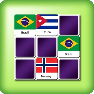 Memory game for adults - national flags - online and free
