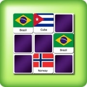 Matching game for adults - national flags - online and free