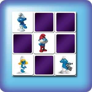 Memory game for kids - smurfs figurines - online and free