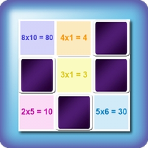 Memory game for kids - easy learning of multiplication tables - online and free