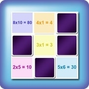 Matching game for kids - easy learning of multiplication tables - online and free