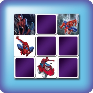 Memory game for kids - Spiderman - online and free