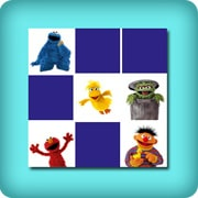 Memory game for toddlers - sesame street