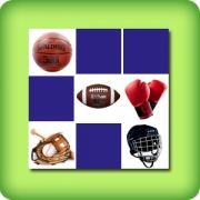Memory game adults - Sports objects - online and free