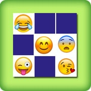 Matching game for adults - emoji I - online and free