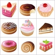 Grid of pictures for kids - cakes
