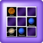 Memory game 2 player - planets of the system solar