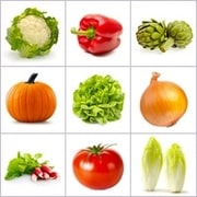 Grid of pictures - vegetables