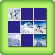 Memory game for adults - ski and snowboard - online and free