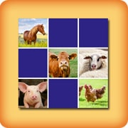 Matching game for seniors - Farm animals - online and free