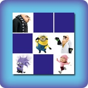 Characters from the minions memory game
