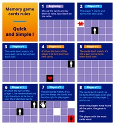Illustrated Memory Matching game rules - Quick and simple!