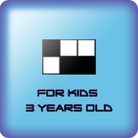 Game of grid of black squares for kids 3 years old