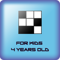 Game of grid of black squares for kids 4 years old