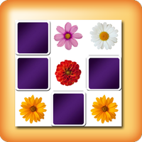 Flowers Memory games for seniors
