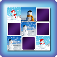 Christmas game online snowman