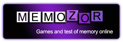 Memozor, free memory games and memory tests online