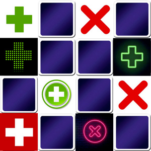 Difficult memory game online for adults crosses for Memory cross template