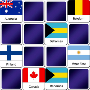 memory game national flags