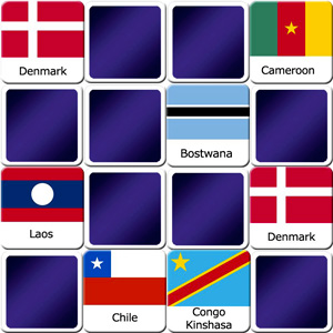 memory game for adults countries flags II