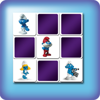 Schtroumpfs Memory games for kids