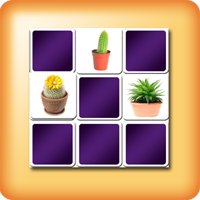 Cactus Memory games for seniors