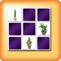 Green Plants Memory games for seniors