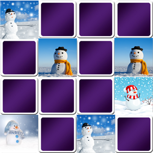 Snowman memory game online