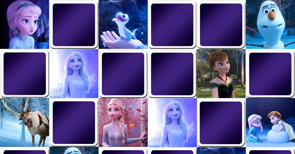 Jeu de memory enfant - La reine des neiges 2 - en ligne et gratuit | Memozor