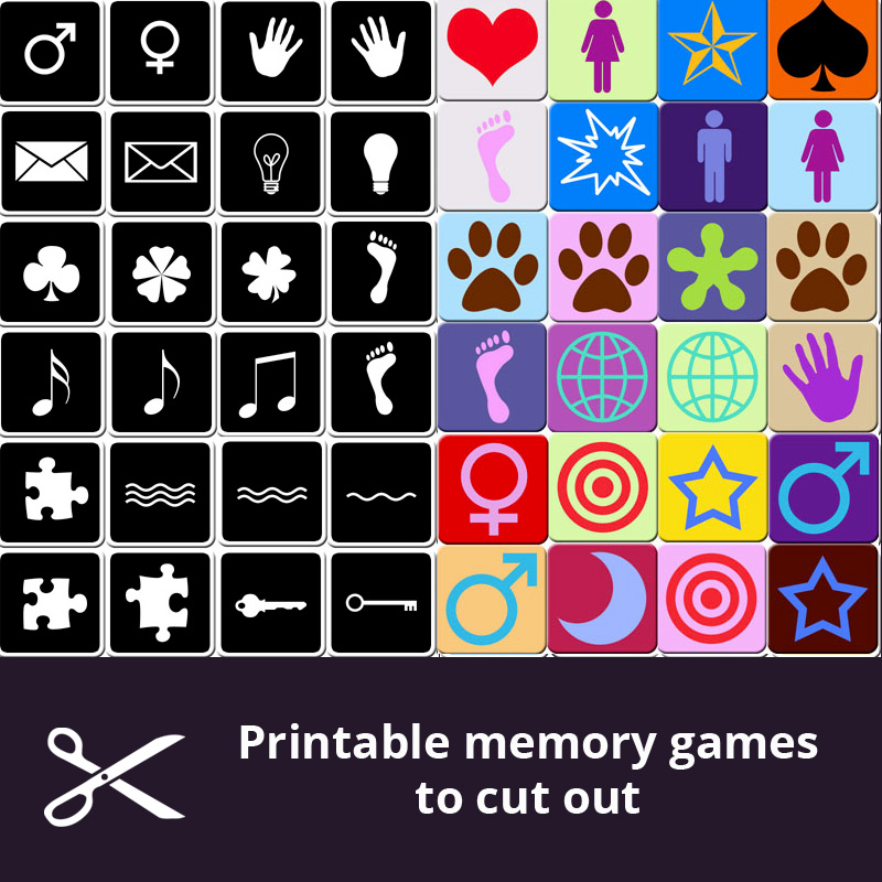 It is an image of Slobbery Memory Games for Seniors Printable