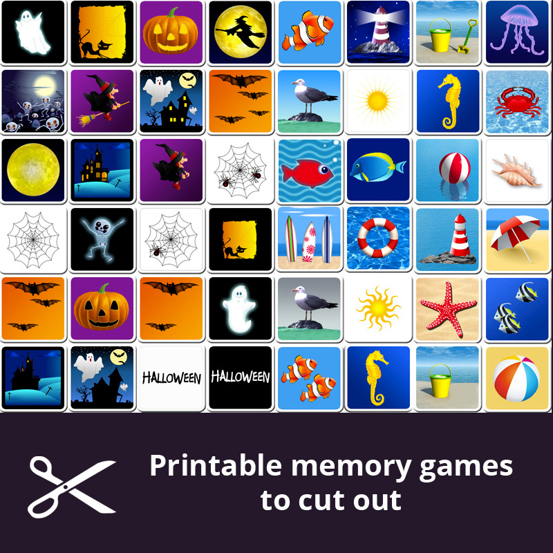 photograph relating to Printable Memory Games for Seniors titled Absolutely free printable memory online games for little ones - Print and lower out the