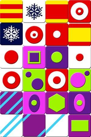 Jeu de memory à imprimer - formes - Imprimez et découpez les cartes   Memozor